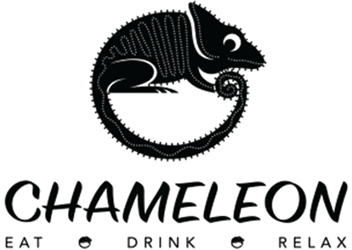 chameleon eat drink and relax logo