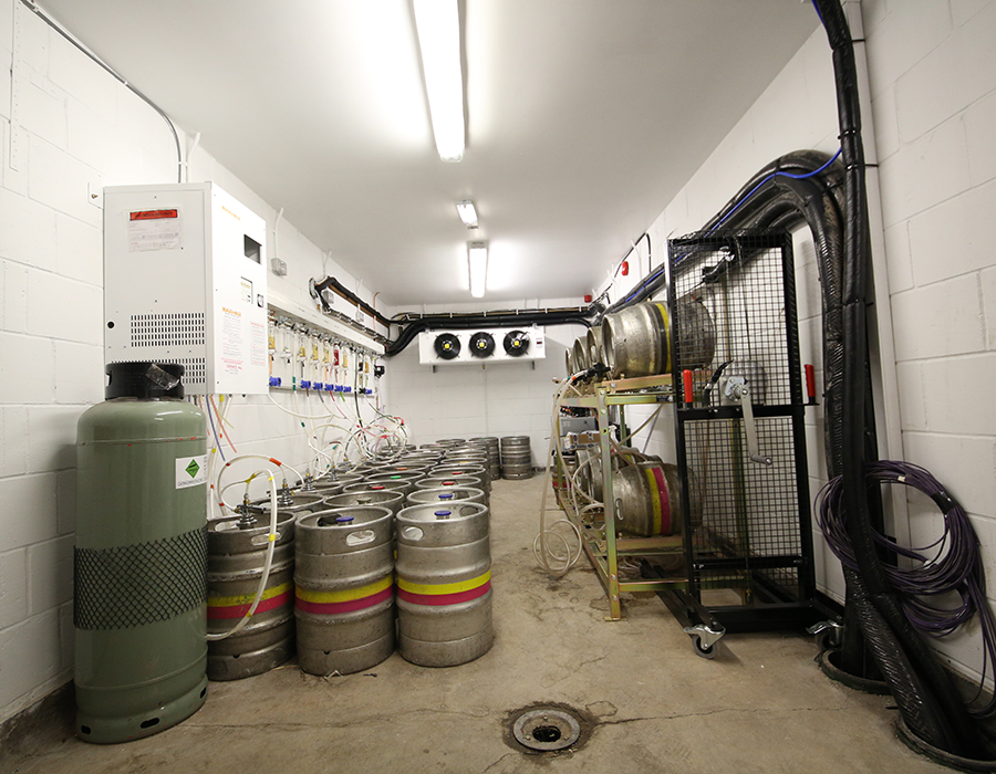 Holts Clock Tower Cellar with kegs and stills cooling system