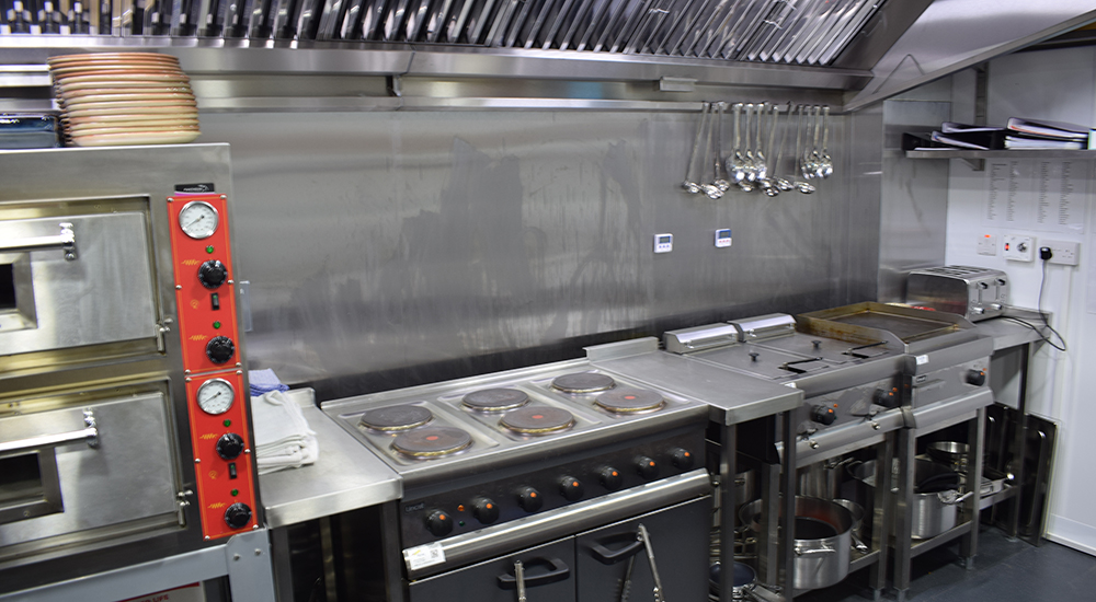 Chameleon kitchn stove and utensils