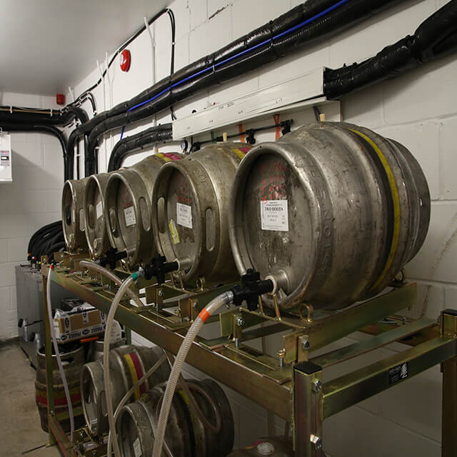 Holts Clock Tower Cellar Cooling beer kegs on stills