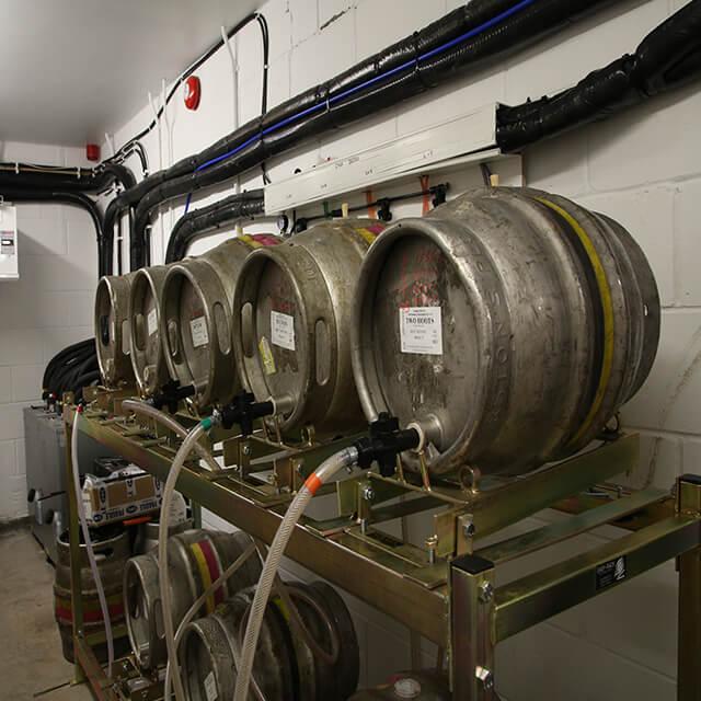 Holts Clock Tower Cellar Cooling beer kegs on stills