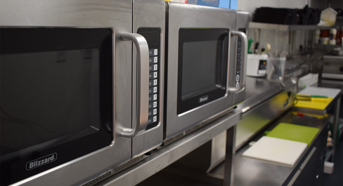 Acme Rentals close up of microwaves
