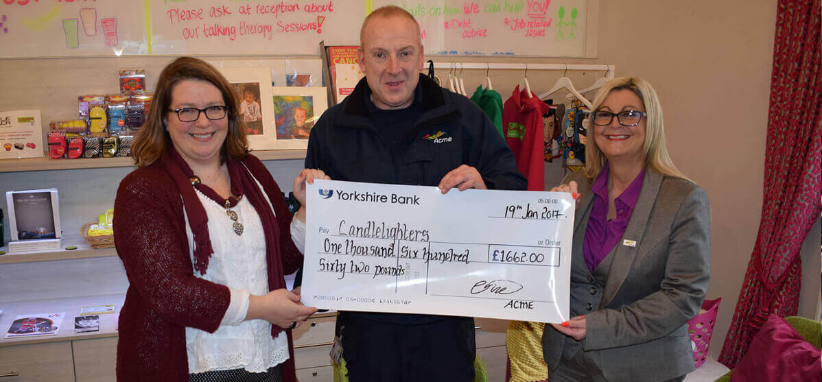 Candlelighters Cheque Presentation january 2017